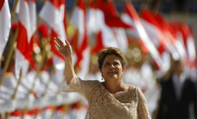A Presidente Dilma durante solenidade de posse (Foto: Fernando Bezerra / EFE)