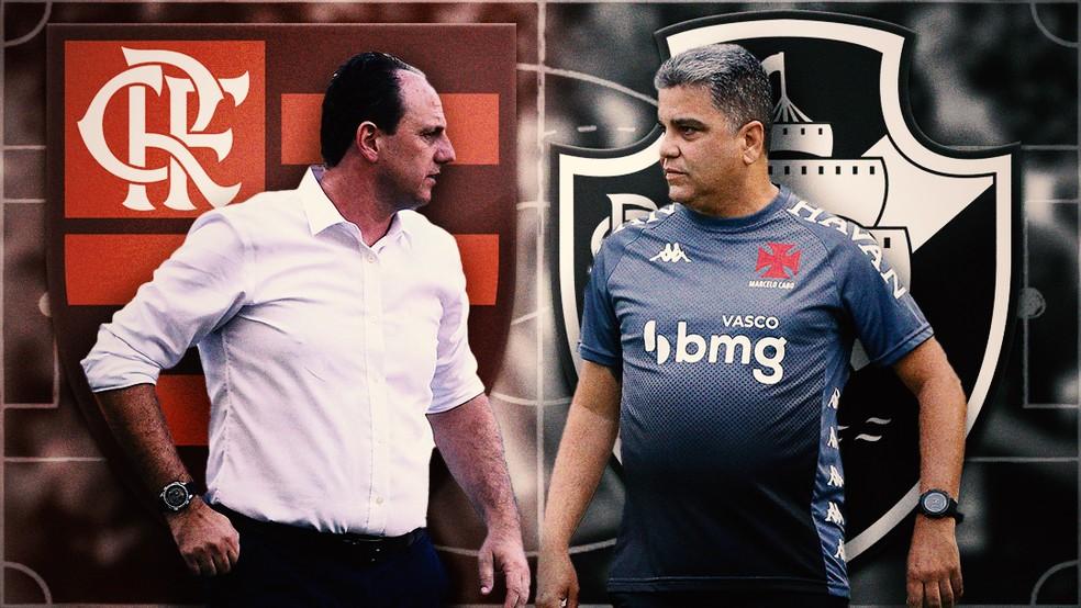 Rogério Ceni e Marcelo Cabo têm quatro duelos e quatro empates — Foto: Arte ge