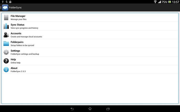 FolderSync é excelente para quem usa apps de nuvem (Foto: Divulgação)