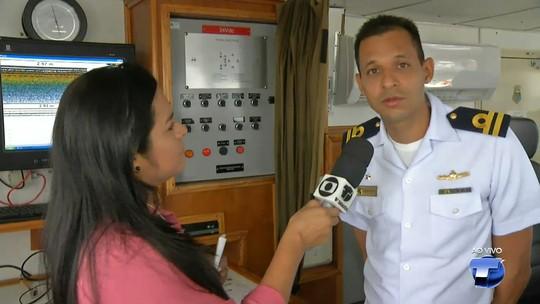 Marinha abre navios para visitação no Terminal Hidroviário de Santarém