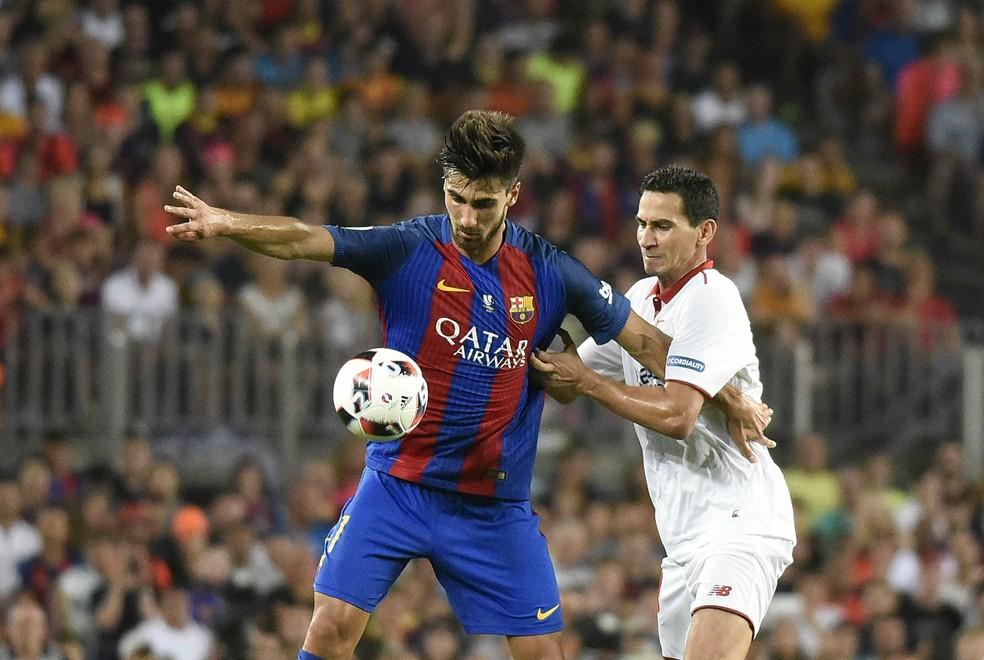 André Gomes reconhece não estar em boa fase no Barcelona (Foto: Site oficial do Sevilla)