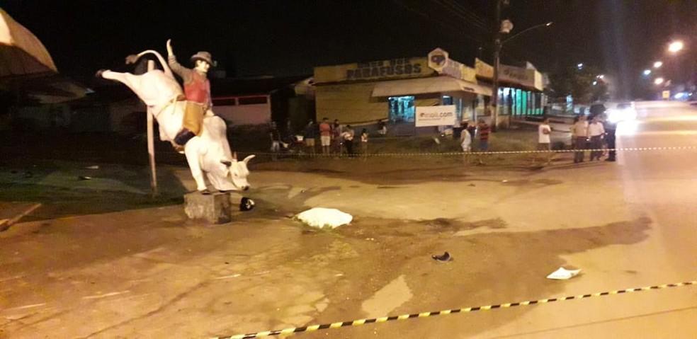 Homem morreu após colisão entre motos — Foto: Conesul Acontece/Reprodução