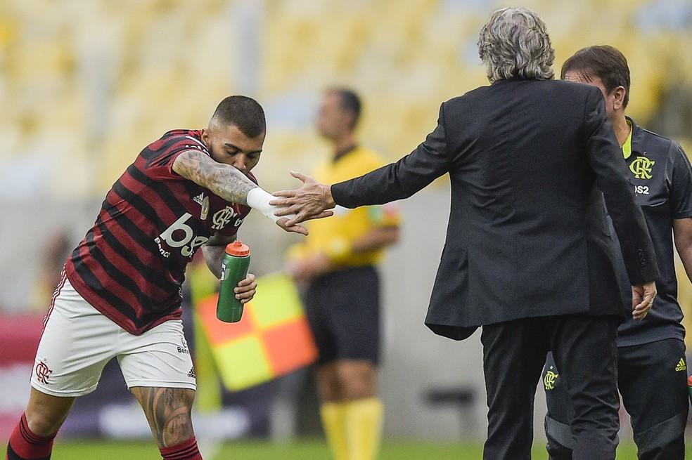 Gabigol passou a ser o artilheiro do time após a chegada do português — Foto: Alexandre Loureiro/BP Filmes