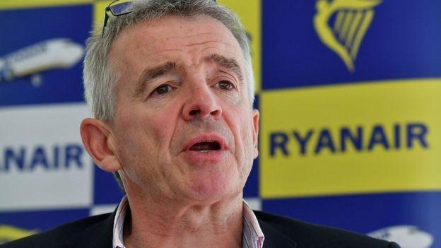 Michael O'Leary, CEO da Ryanair, foi um dos que questionou a sustentabilidade financeira da Norwegian (Foto: GETTY IMAGES/via BBC News Brasil)