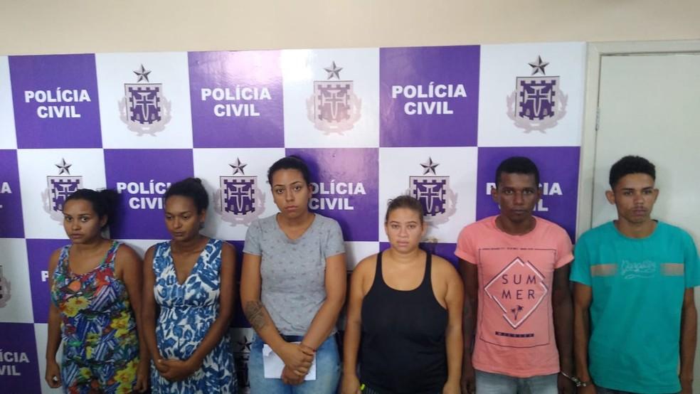 Seis foram presso em Camacan e outros seis já estavam detidos em Itabuna — Foto: Divulgação/Delegacia de Camacan