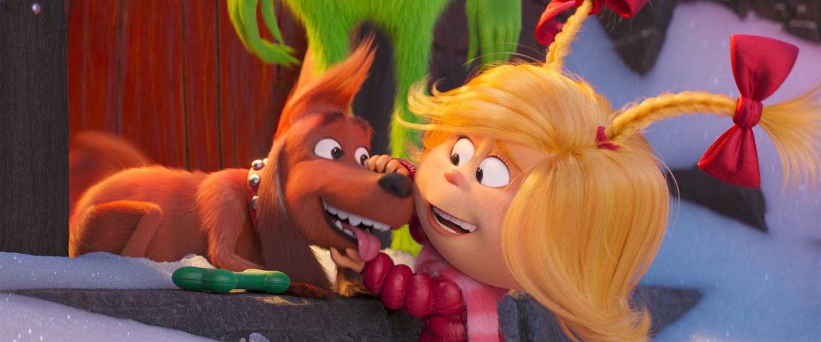 Cindy Lou e Max fazem parte de 'O Grinch' (Foto: Divulgação)