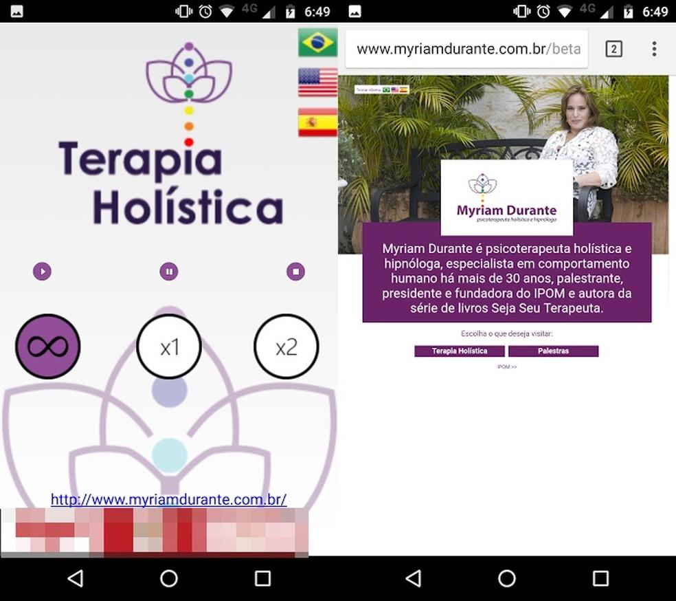 Aprenda a Relaxar MD: app simples com meditação em três línguas e link para site (Foto: Reprodução/Bruno Soares)
