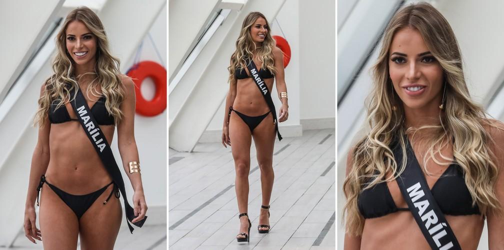 A Miss Marília, Franciele Rodrigues Marconato, de 22 anos, candidata a Miss São Paulo 2018 (Foto: Fábio Tito/G1)