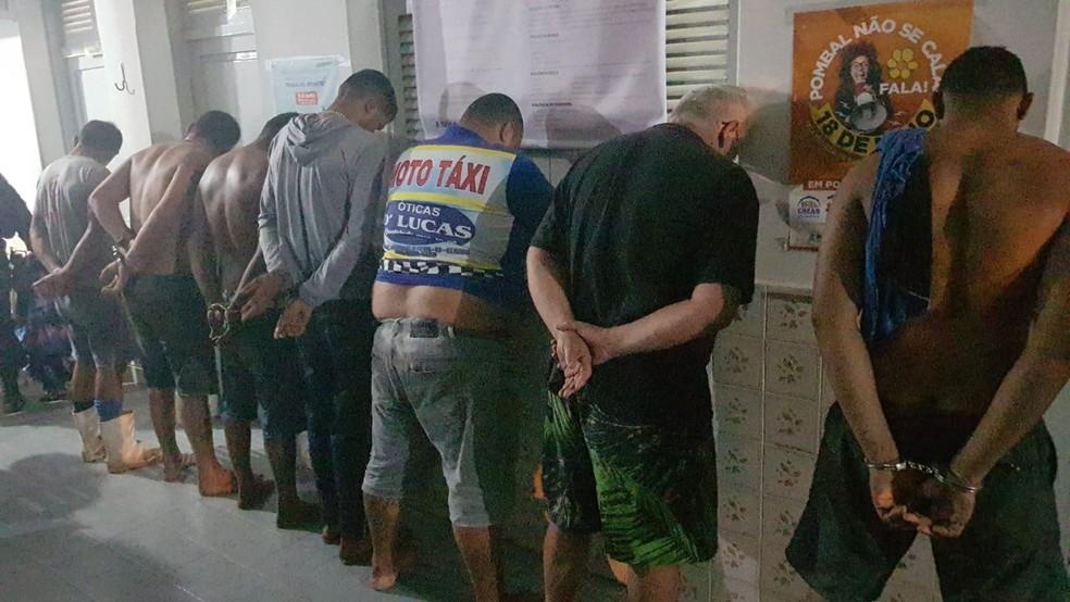 Operação policial prende 11 pessoas suspeitas de homicídio e comércio ilegal de drogas, na Paraíba — Foto: Divulgação/Polícia Civil
