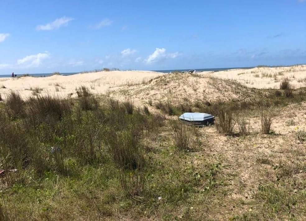Corpo de mulher foi encontrado na praia do Cassino, em Rio Grande — Foto: Divulgação / Polícia Civil