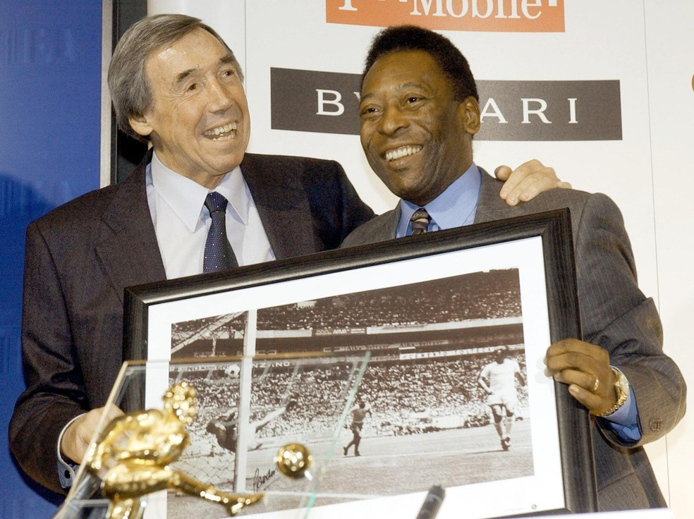 Gordon Banks Pelé — Foto: Getty Images