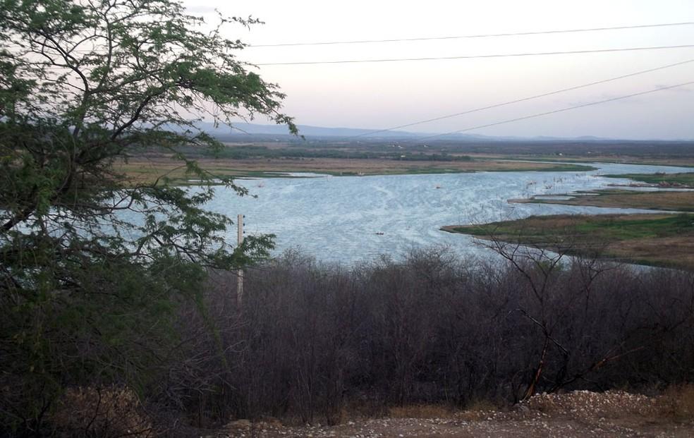 Barragem de Passagem das Traíras voltou a abastecer Jardim do Seridó, no RN (Arquivo: 2013) (Foto: Anderson Barbosa/G1)