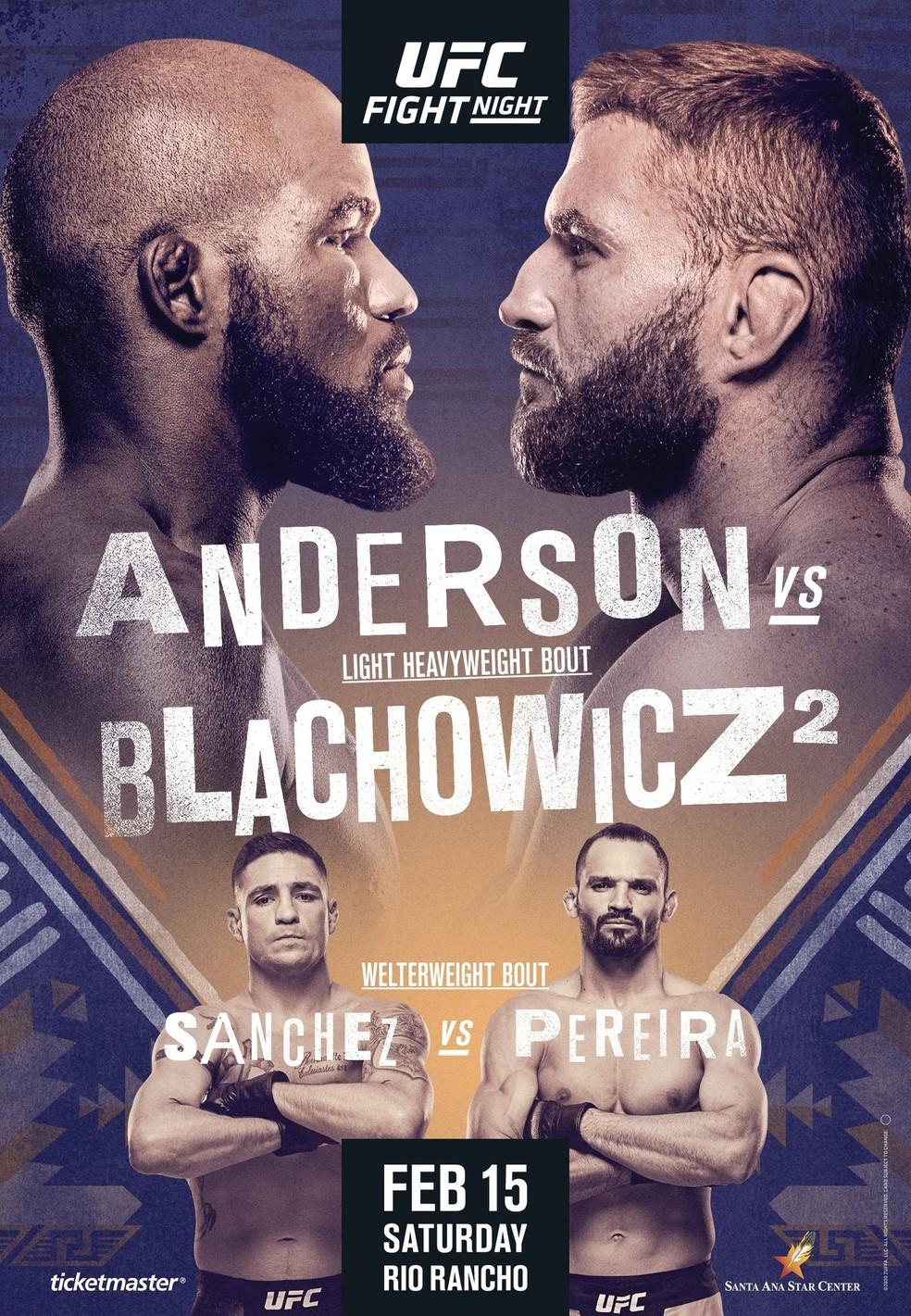 Resultado de imagem para MMA – UFC – LUTAS - UFC RIO RANCHO - LOGOS DE COREY ANDERSON X JAN BLACHOWICZ
