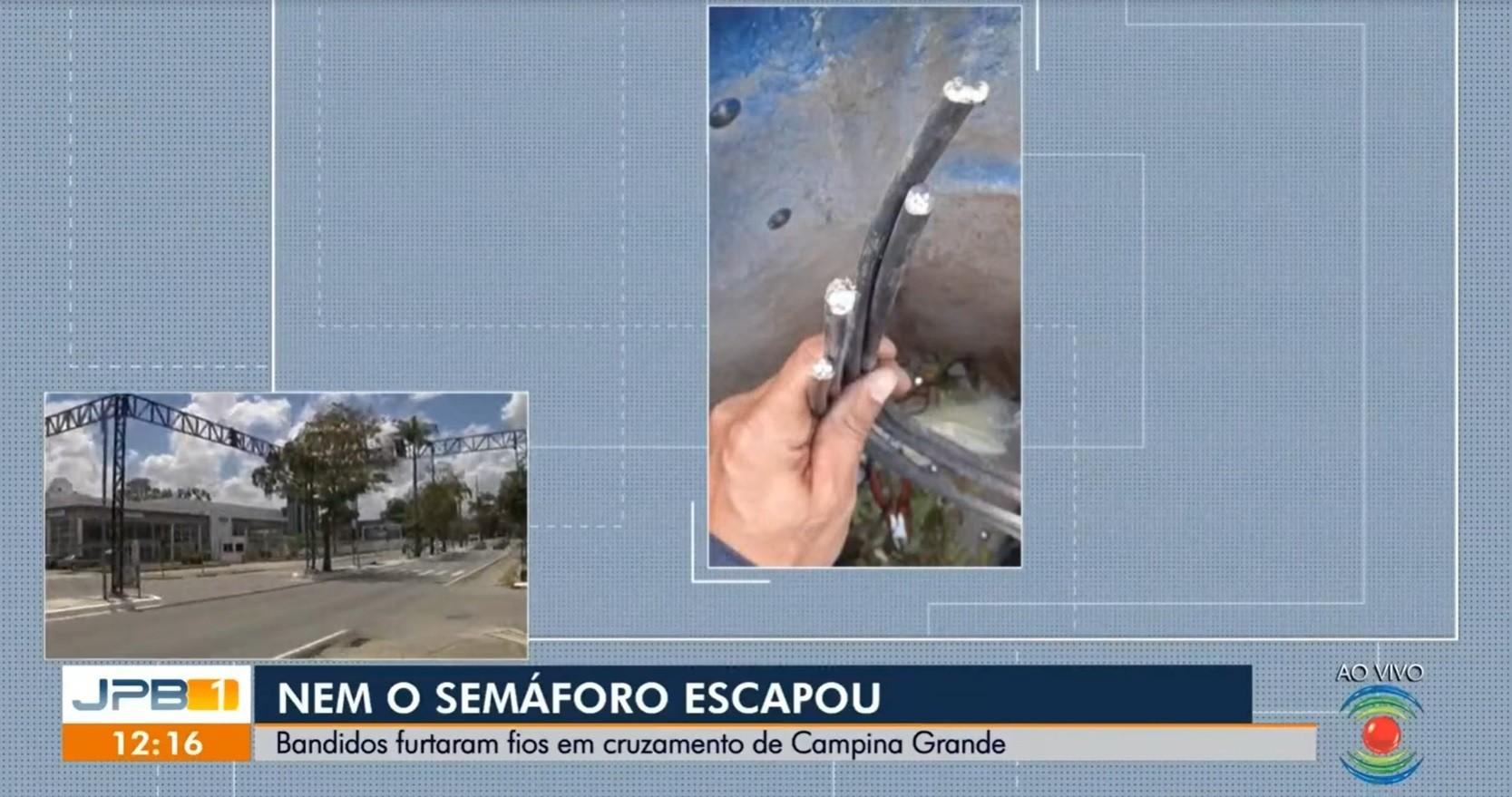 Furto de cabos deixa semáforo apagado entre os bairros Catolé e José Pinheiro, em Campina Grande