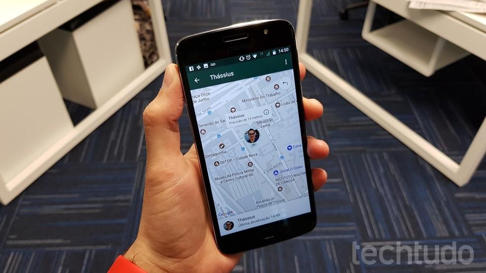 WhatsApp informa horário da última atualização e precisão do GPS (em metros) (Foto: Thássius Veloso / TechTudo)