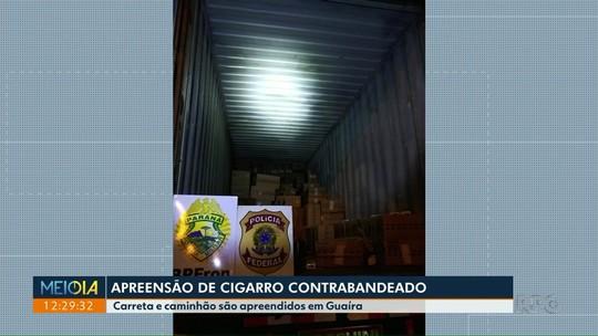 Polícia apreende carreta com contrabando de cigarros