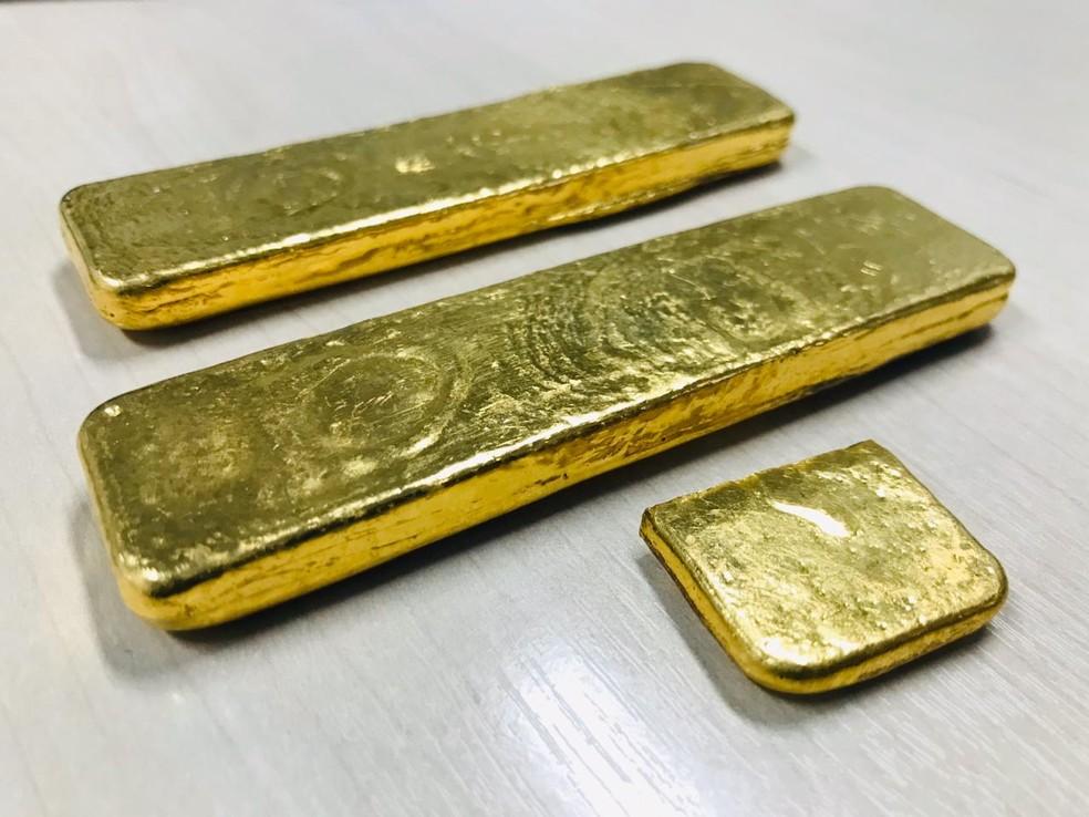 Ouro foi avaliado em R$ 250 mil, de acordo com a Polícia Civil — Foto: Divulgação/PC-AM