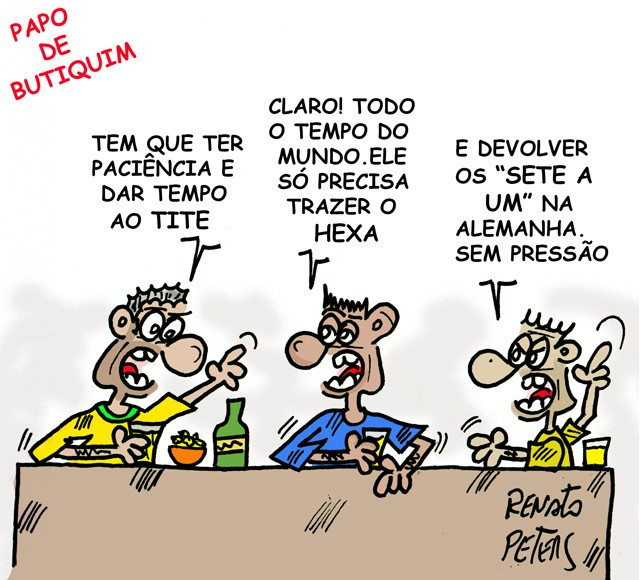 Sem pressão, Tite - charge Peters