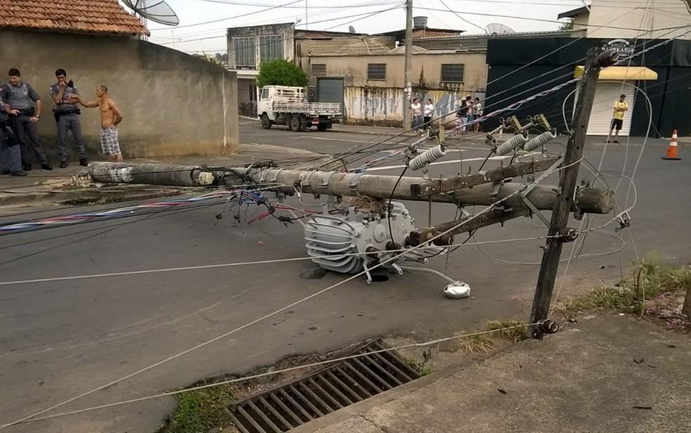 Cidade registrou nove acidentes na rede elétrica em Piracicaba — Foto: VC no G1