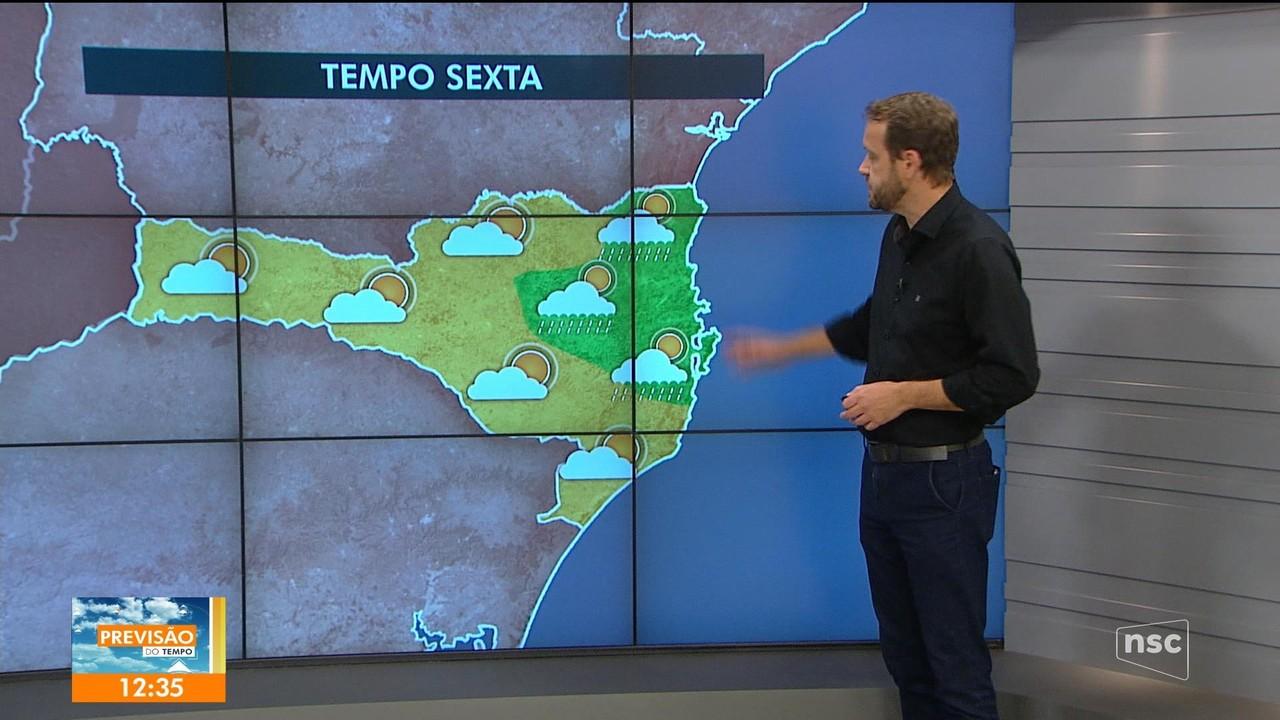 Veja a previsão do tempo para esta sexta-feira em SC