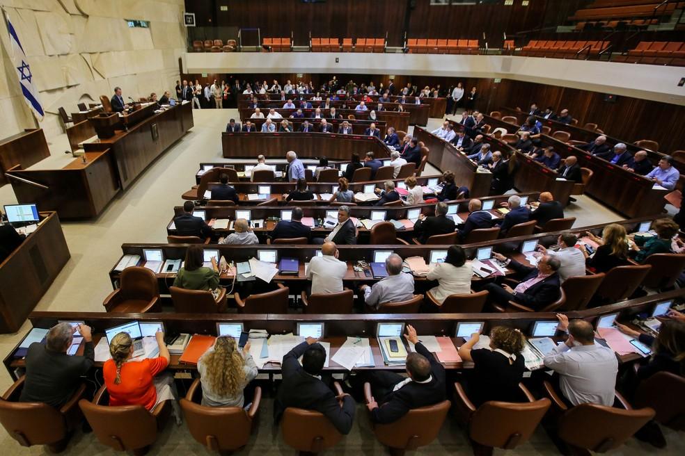 Parlamento Israelense votou nesta quinta-feira (19) lei que estabelece Israel como um estado exclusivamente judaico   (Foto: Marc Israel Sellem / AFP)
