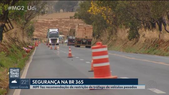 MPF volta a pedir restrição do tráfego de veículos pesados na BR-365 durante festa em Romaria
