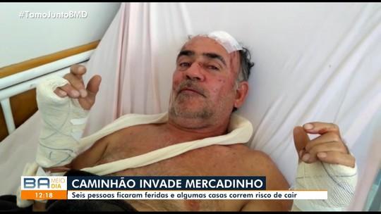 'Muito desespero', diz dono de mercearia que foi invadida por caminhão no sul da Bahia