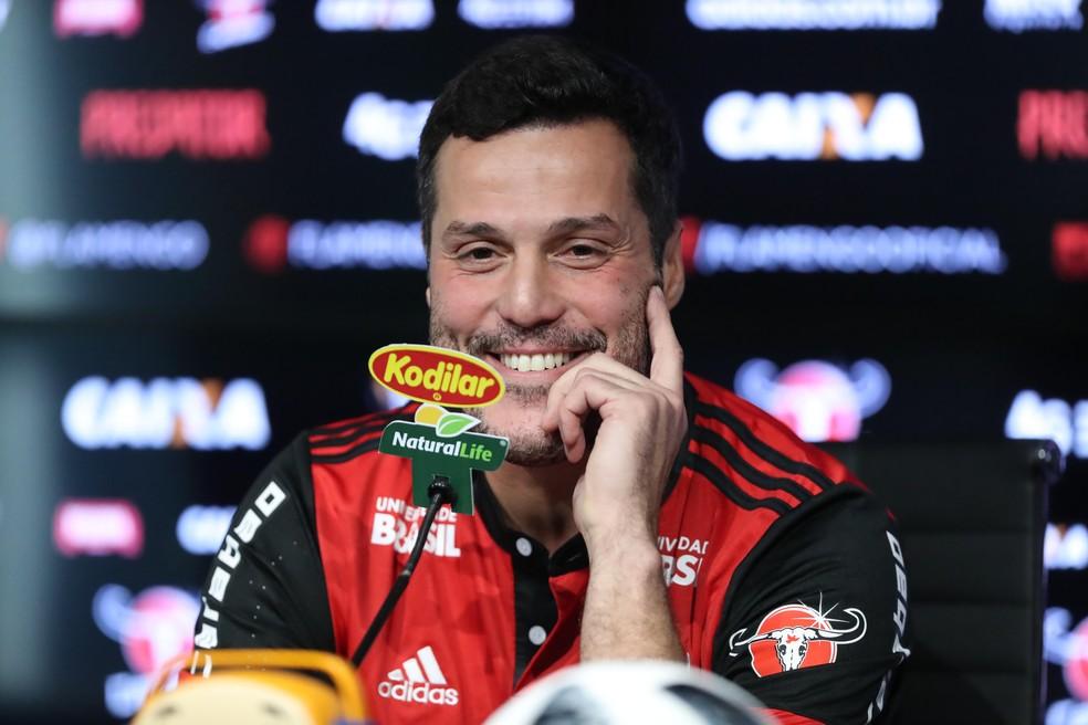 Julio Cesar foi apresentado no Fla nesta segunda (Foto: Gilvan de Souza/Flamengo)