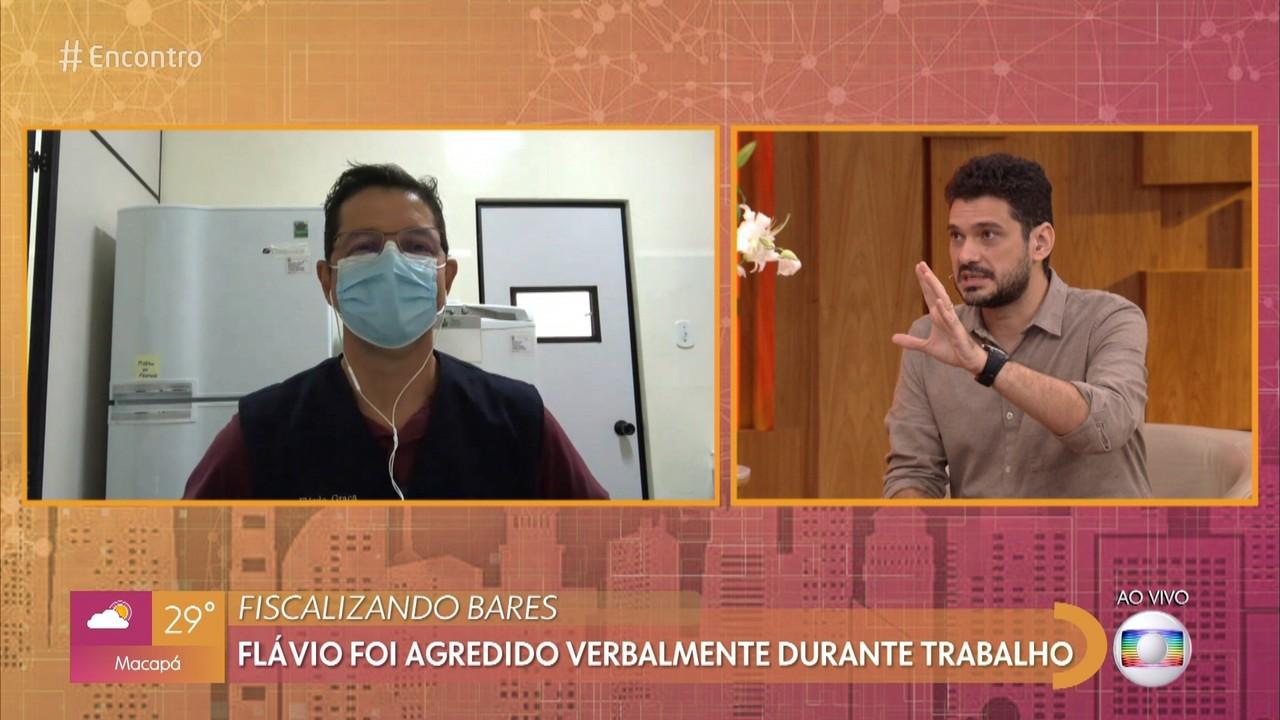 Flávio foi agredido verbalmente durante trabalho