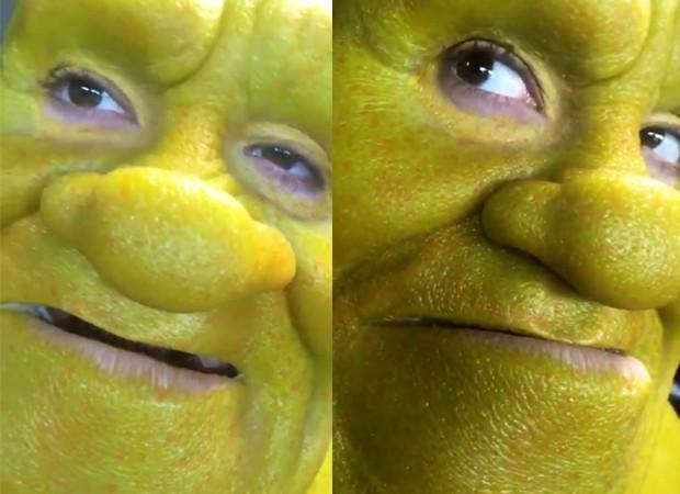 Bill Kaulitz como Shrek (Foto: Reprodução/Instagram)