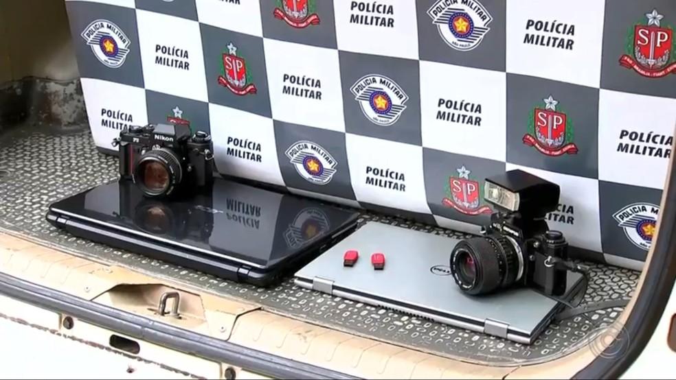 Produtos roubados pelos assaltantes em Rio Preto — Foto: Reprodução/TV TEM