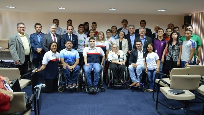 Reunião Tocha Paralímpica Natal (Foto: Aline Bezerra/Divulgação)