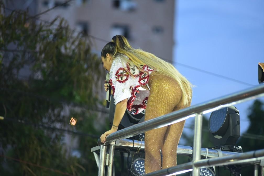 Aline Rosa super sexy para desfile em Salvador — Foto: Enaldo Pinto/Ag Haack