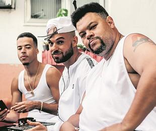 Babu Santana com Papatinho e L7nnon  | Divulgação