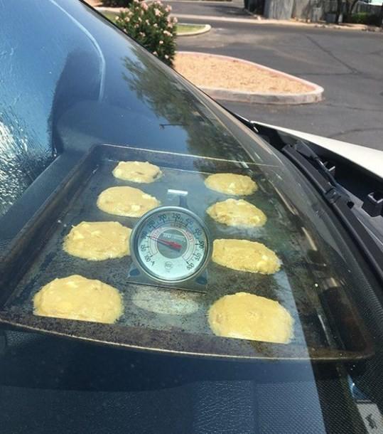 Panquecas são preparadas aproveitando o calor