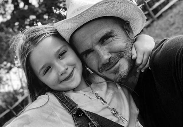 David Beckham e a caçulinha, Harper (Foto: Reprodução/Instagram)