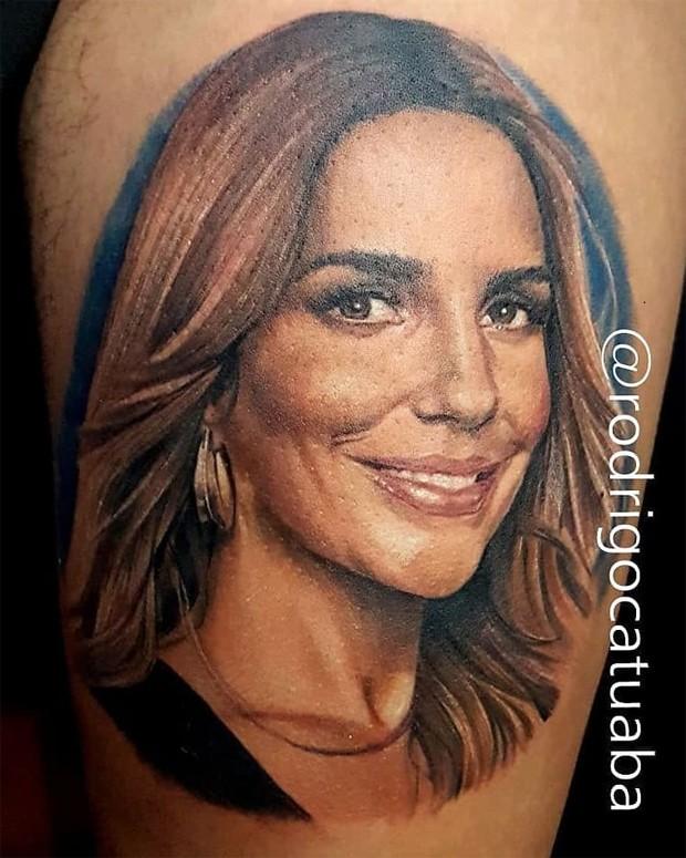 Fã faz tatuagem com rosto de Ivete Sangalo (Foto: Reprodução/Instagram)