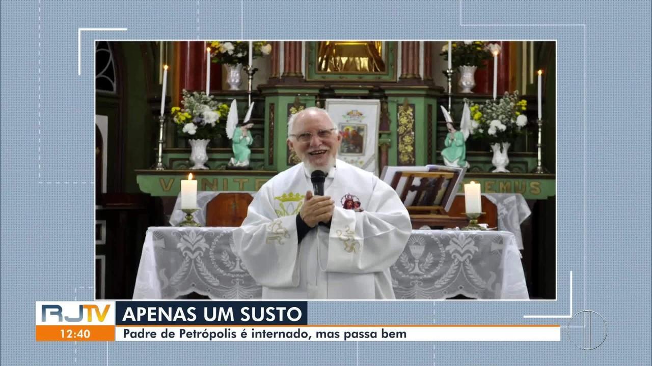 Padre Francisco Montemezzo, de Petrópolis, é internado, mas passa bem