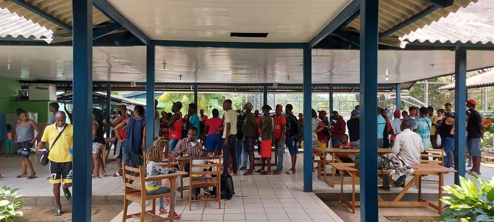 Cidade de Assis Brasil abriga mais de 150 imigrantes — Foto: Arquivo/Prefeitura de Assis Brasil