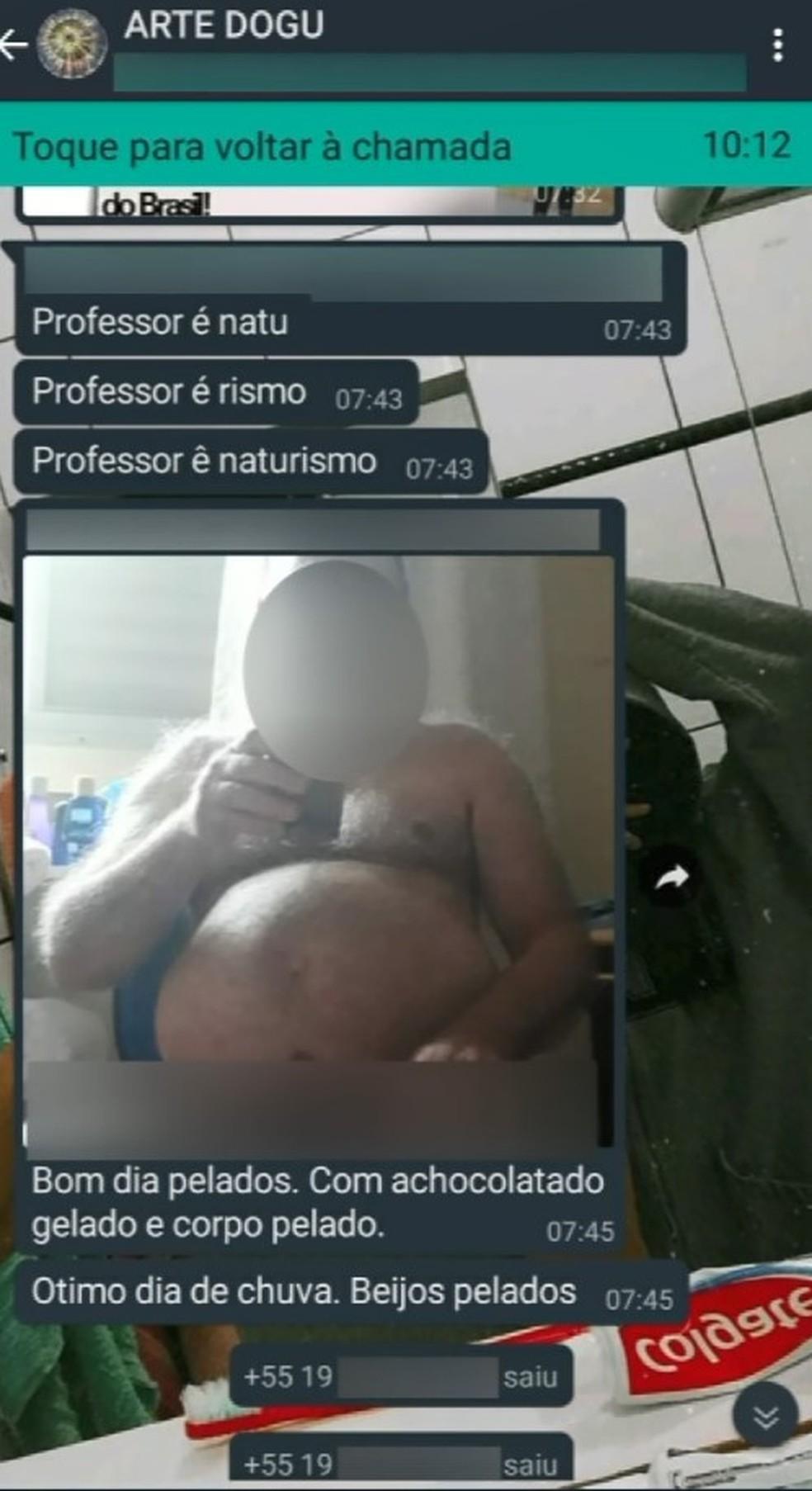 Professor de artes que mandou foto nu para grupo de alunos no WhatsApp afirma que foi 'erro de envio' | Campinas e Região | G1
