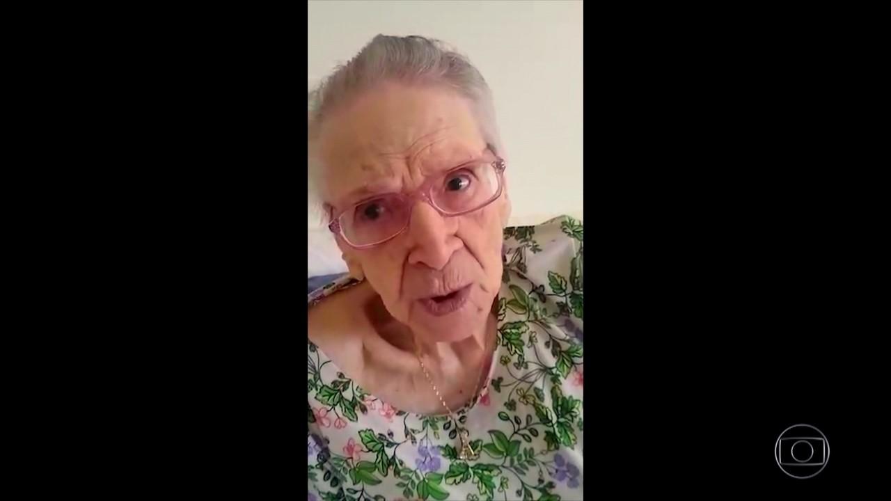 Aos 110 anos, Dona Elba passa pela segunda pandemia de sua vida