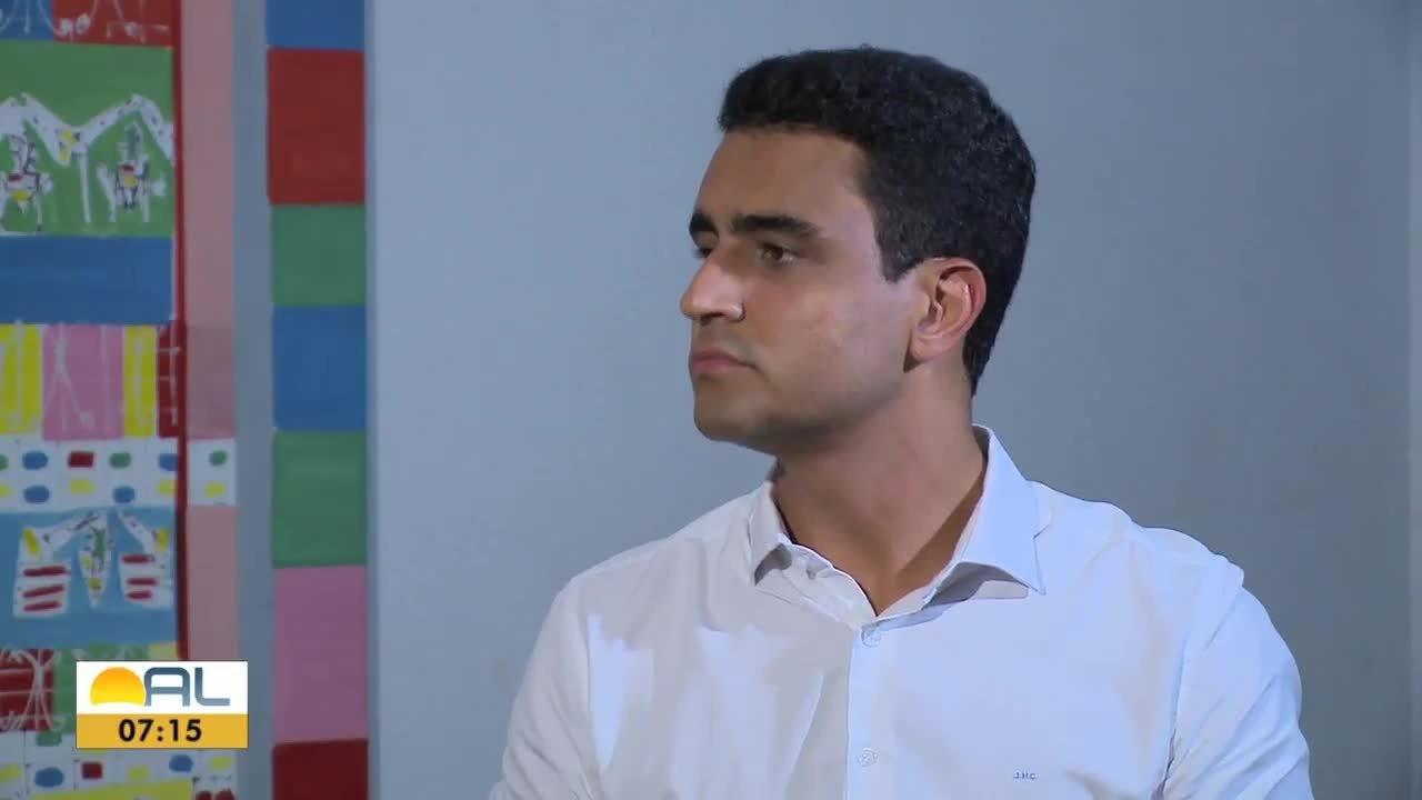 JHC, candidato à prefeitura de Maceió, é entrevistado pela TV Gazeta