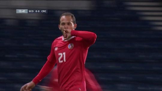 O gol de Escócia 0 x 1 Costa Rica em amistoso internacional