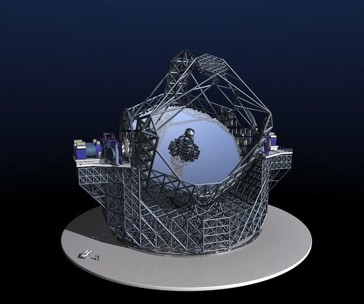 Projeto de espelhos do Extremely Large Telescope (ELT) (Foto: ESO)