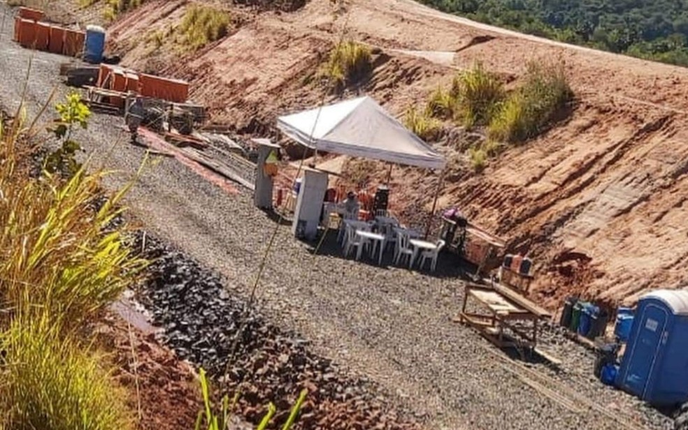Obras da Ferrovia Norte-Sul — Foto: Divulgação/Prefeitura de Quirinópolis