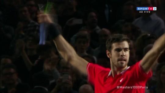 Pontos finais de Karen Khachanov 2 x 0 Novak Djokovic pela final do Masters 1000 de Paris