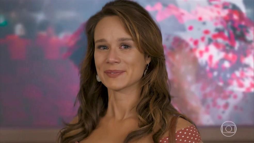 Tancinha (Mariana Ximenes) lembra dos conselhos de Claudia Raia - 'Haja Coração' — Foto: Globo