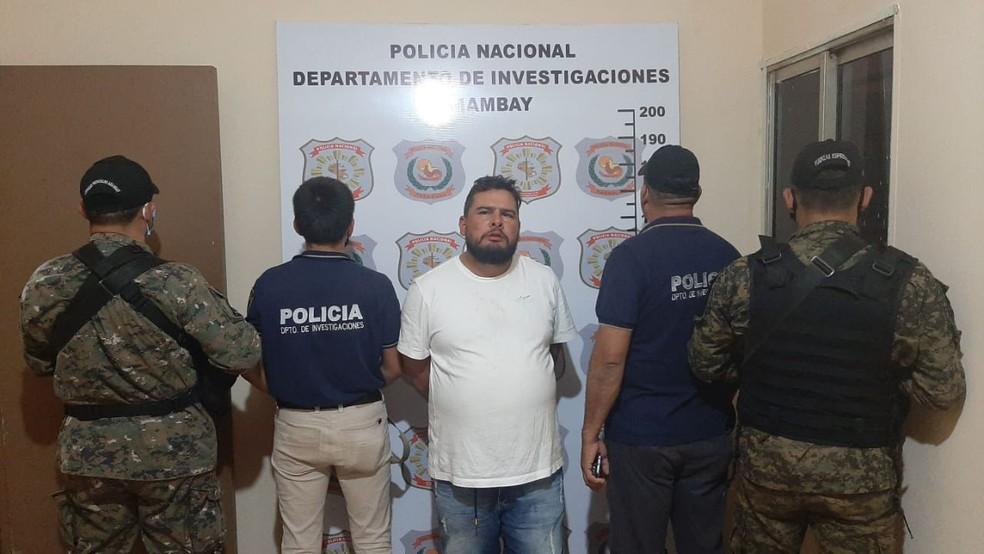 Cachorrão foi preso pela polícia paraguaia  — Foto: Jornal ABC Color