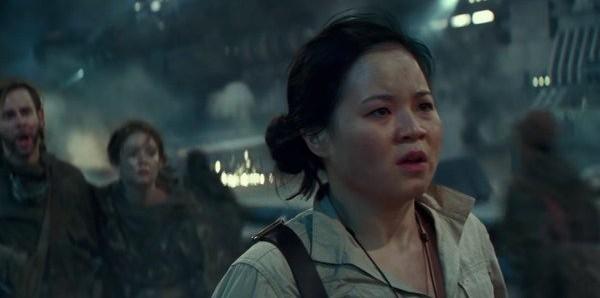 A atriz Kelly Marie Tran em cena de Star Wars: Episódio IX - A Ascensão Skywalker (Foto: Reprodução)