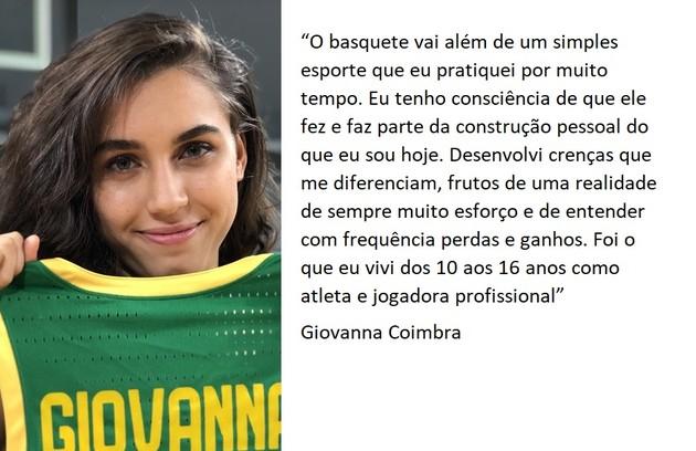 A atriz Giovanna Coimbra foi atleta profissional de basquete  (Foto: Letícia Souza/Gshow)